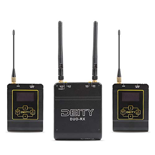 Deity Connect Wireless Lavalier Microphone, 2.4G Dual-Channel Receiver & Two Transmitters, OLED Daylight Display Screen, 24bit/48Khz Uncompressed Audio, 10-Hour Battery Recharges in 1 Hour, - Microphone Wireless Dual Diversity Receiver