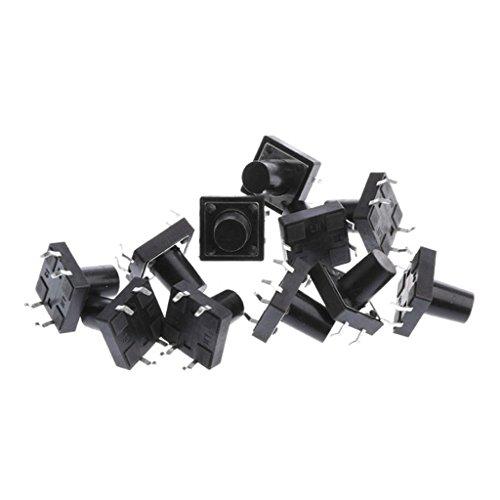 約12x12x11mm PCBマウント モーメンタリ プッシュボタン 触覚タクトスイッチ 交換性