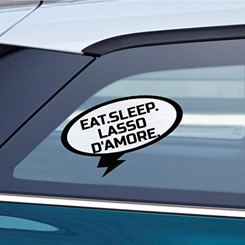 - EAT SLEEP LASSO D'AMORE Music Musician Car Laptop Wall Sticker Decal - 3.5'by6'(Small) or 5'by9'(Large)