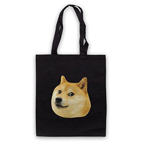 Doge Head Meme Bolso Negro