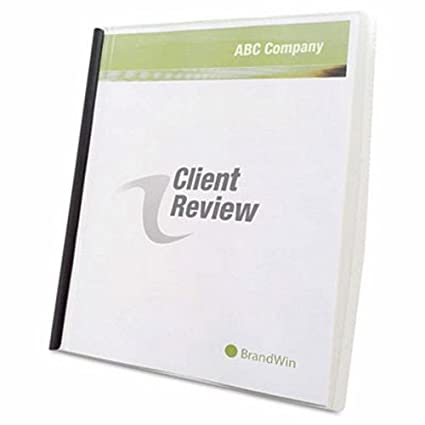 Amazon.com : GBC Slide \'n Bind Report Cover, Letter Size ...