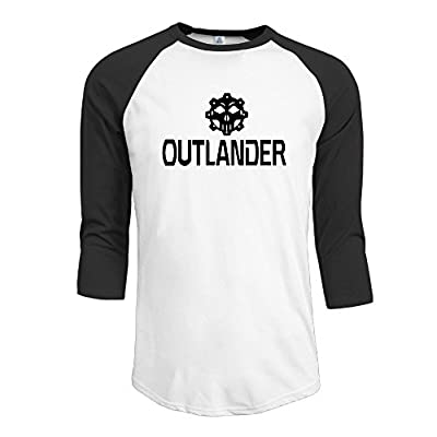 Hotboy19 Men Outlander TV Raglan Baseball T Shirt Black Size XXL