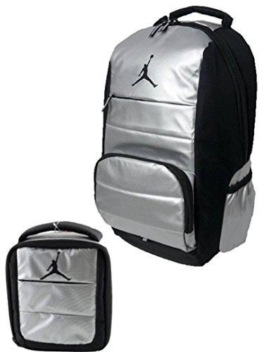 6028558c48c6 Galleon - Nike Air Jordan Jumpman All World Silver Laptop Backpack And  Matching Lunch Tote W FREE Cell Phone Anti-Dust Plug