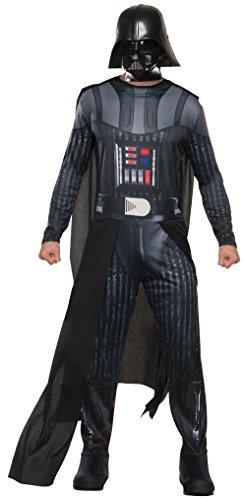 [Rubie's Costume Co Men's Star Wars Classic Darth Vader Costume, Multi, X-Large] (Star Wars Darth Vader Adult Plus Costumes)