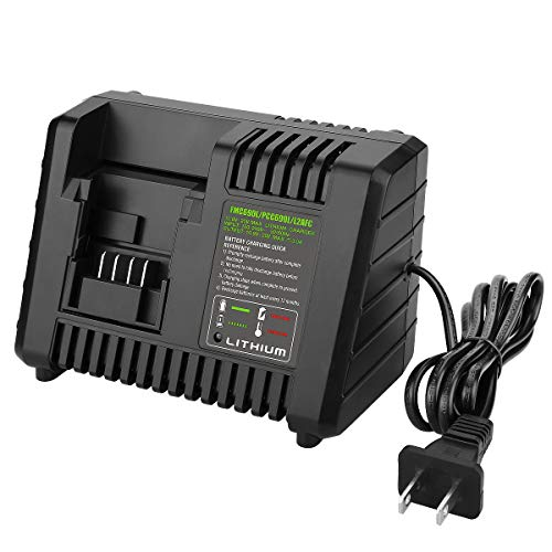 YABELLE 20V Lithium Battery Charger BDCAC202B for Black and Decker 20V Lithium-ion Battery and Porter-Cable 20V Lithium-Ion Battery PCC692L LB20 LBX20 LBXR20 LST220 PCC675L PCC680L