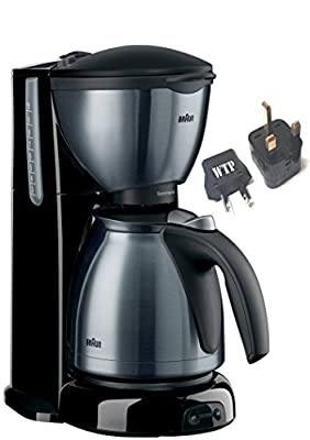 Bundle 2 Items: Coffee Maker + WTP Plug Kit - Braun KF610 (NOT FOR USA) - International Model - FOR EXPORT ONLY - Do Not Use In The USA - Requires Foreign 220/240 Voltage To Operate