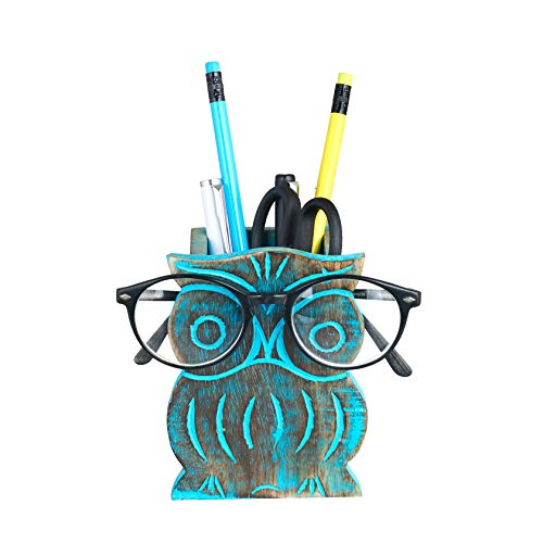 Owl Spectacle Holder   Pen Pencil Holder Stand for Desk   Pen Pencil Case Stand Up   Standing Pencil Case   Colored…