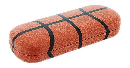 Hard Basketball - Hard Shell Eyeglass Case For Boys & Girls, Kids Small Glasses Case, Basketball