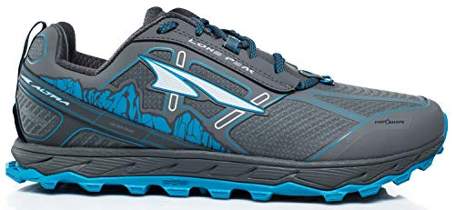 Image of Altra Men's Lone Peak 4 Low RSM Waterproof Trail Running Shoe, Gray/Blue - 10.5 D(M) US