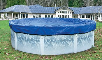 HPI Yard Guard Skirted Blue/Black Reversible Winter Cover with 2-Foot Overlap for 18-Foot Round Above-Ground Swimming Pools