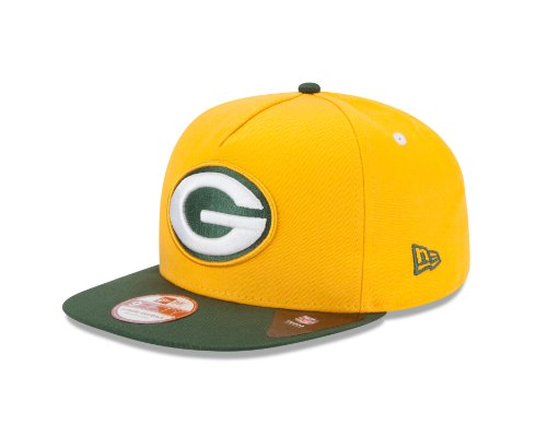 new arrival 56f79 d35c8 NFL Green Bay Packers 9Fifty Turnover Snapback 2 Tone Cap, Gold Green