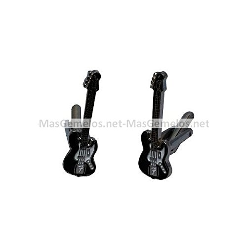 MasGemelos - Gemelos Guitarra Electrica Negra Cufflinks: Amazon.es ...