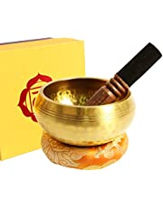 Silent Mind Tibetan Singing Bowl Set With Exquisite Gift Box, For Meditation, Chakra Healing, Yoga, Prayer and Mindfulness (3.15-in.)