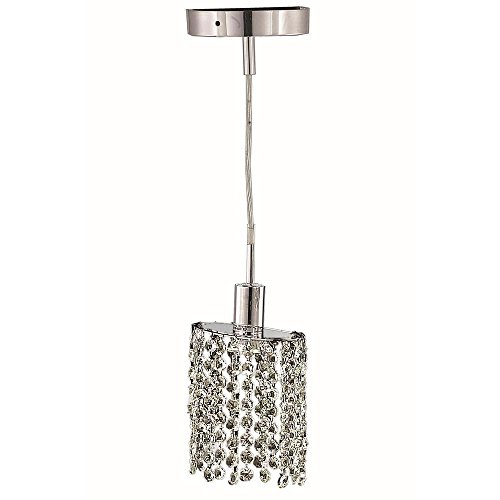 Ss 1 Light Chrome Crystal Pendant in US - 1