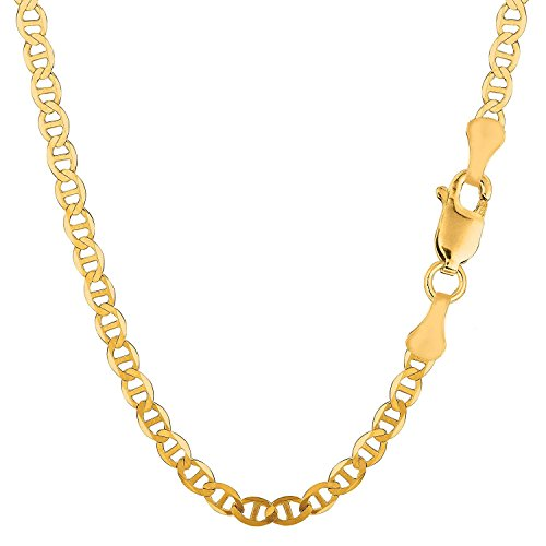 MCS Jewelry 14 Karat Yellow Gold Mariner Link Chain Necklace 4.2 mm (Length: 18