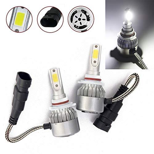 CK Formula 9006 HB4 C6 LED COB Chip All-In-One Auto Headlight Bulbs 7600LM 72W Kit 6000K Bright White Light (Low Beam) USA Seller