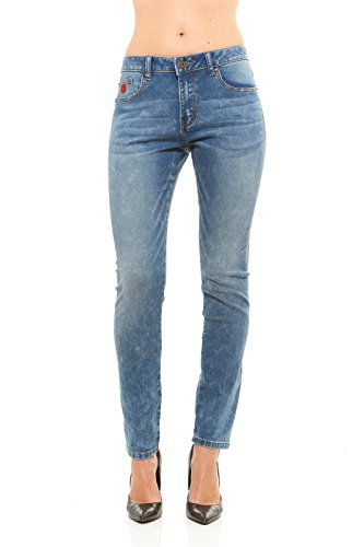 Red Jeans Slim Fit Women's Denim Jeans | High Waist, Light Stretch Slimming 5 Pocket Skinny Jeans for Ladies (8, (Pinterest Women's Clothing Ideas)