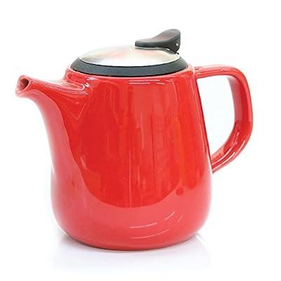 Daze Ceramic Teapot w/ Stainless Steel Lid & Infuser - #1 Best Teapot To Brew Loose Leaf Tea