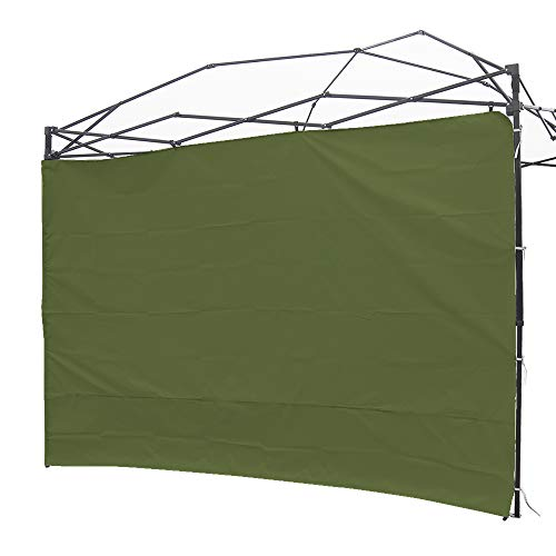 NINAT Canopy Sunwall 10 ft Sunshade Privacy Panel for Gazebos Tent Waterproof, Sun Wall for Straight Leg Gazebos,1 Pack Sidewall Only,Green
