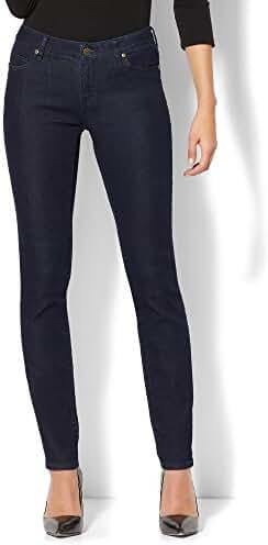 New York & Co. Women's Soho Jeans - Curvy Skinny - Dark Midnight Wash - Petite