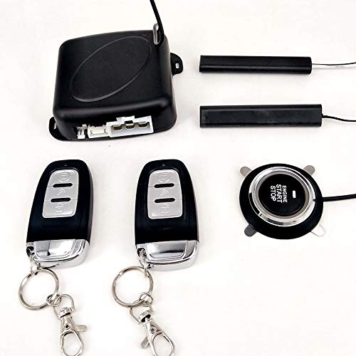 KENTT Auto Car Alarm Engine Starline Push Button Start Stop RFID Lock Ignition Switch Keyless Entry System Starter Anti-theft System ()