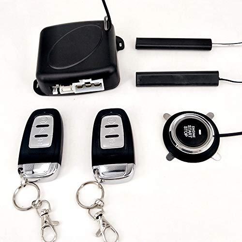 KENTT Auto Car Alarm Engine Starline Push Button Start Stop RFID Lock Ignition Switch Keyless Entry System Starter Anti-theft System ()