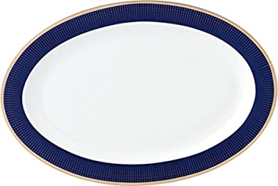 Lorren Home Trends Midnight-57 57 Piece Dinnerware Set-Bone China Service for 8 People-Midnight Blue
