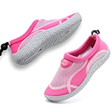 GLOBTOUCH Boys Girls Water Shoes Toddler Breathable Running Sneakers Sandals Pool Beach Athletic Slip on Aqua Sock-THSX-pink-23