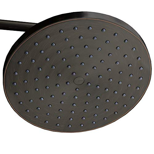 ShowerMaxx | Luxury Spa Series | 8 inch Round High Pressure Rainfall Shower Head | MAXX-imize Your Rainfall Experience with Easy-to-Remove Flow Restrictor Rain Showerhead | Oil Rubbed Bronze Finish