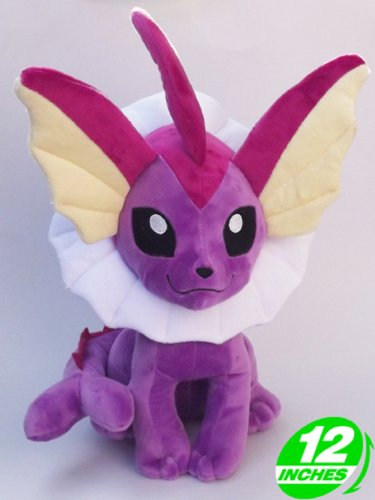 - Anime Pokemon Shiny Vaporeon Plush Doll 12 Inches