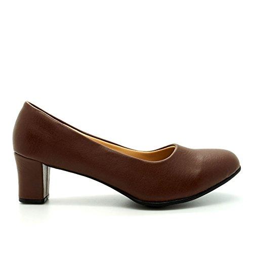 Marrone Footwear Zeppa Donna marrone London Con Sandali qO8aH6w