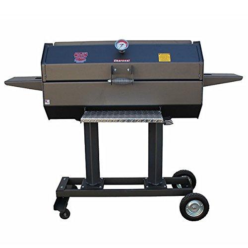 R & V Works SCG40C 40 Inches Smokin' Cajun Charcoal Stainless Steel Grill (Charcoal Steel Stainless Grill Cajun)