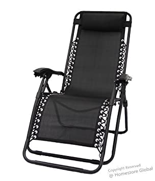 HomeStore Zero Gravity Reclining Relaxer Chair With Removal Pillow In Black  sc 1 st  Amazon UK : zero gravity recliner uk - islam-shia.org
