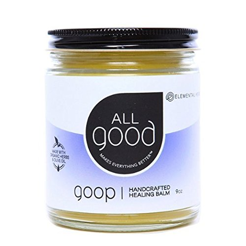 All Good Goop Organic Healing Balm & Ointment | For Dry Skin/Lips, Cuts, Scars, Blisters, Diaper Rash, Insect Bites, Sunburn, More (9 oz) by All Good