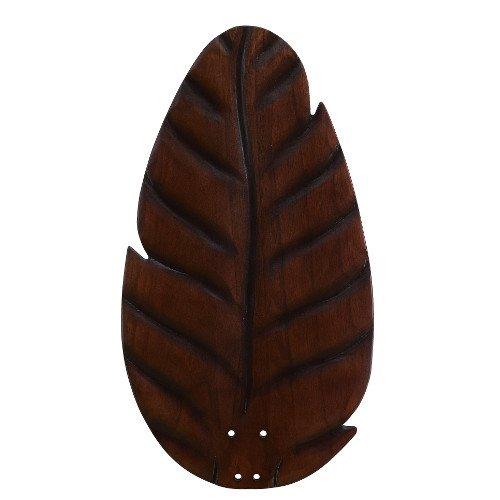 Fanimation B854DC Oval Leaf Carved Wood Blade, Dark (Leaf Fan Blades)