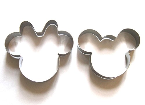 LAWMAN Mickey Minnie Mouse Fondant Pastry Baking Cookie Cutter Set (Mickey Mouse Cookie)