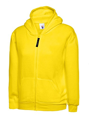 uneek-clothing-childrens-full-zip-hooded-sweatshirt-300-gsm-yellow-7-8-yrs