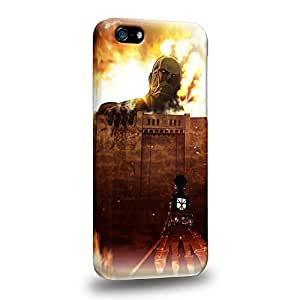 Case88 Premium Designs Attack on Titans Protective Snap-on Hard Back Case Cover for Apple iPhone 5/5s