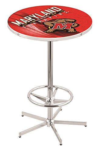 Holland Bar Stool L216C University of Maryland Licensed Pub Table, 36