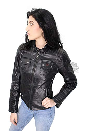 Coated Twill Jacket - Harley-Davidson Slim Fit Womens Quilted Coated Functional Jacket 98115-16VW (X-Small) Black