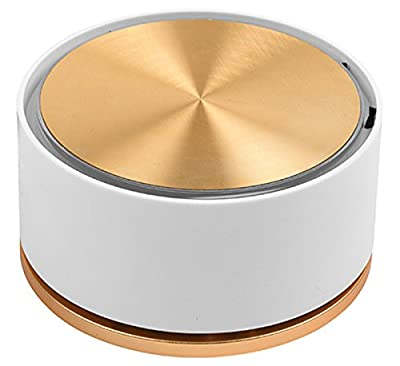 RIGOGLIOSO Ionic Air Purifier, USB Mini Air Purifier, Portable battery power Aroma air Ionizer ,True Hepa Home and car Purifier Remove Cigarette Smoke,Dust,Pollen and Bad Odors (gold/white)