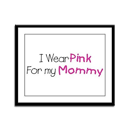 Framed Panel Print Cancer I Wear Pink Ribbon For My Mommy (Cancer Panel Framed)