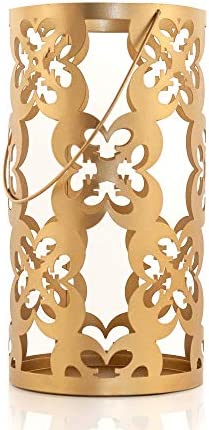 Star Wars Stamped Iron Lantern With Handle Gold Die Cut Rebel Symbol Clusters Indoor Outdoor Use 11.5 Inches Tall