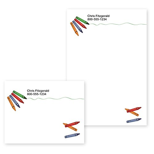 """Teacher Note Personalized (Creative Crayons Personalized Post-it Notes - 4"""" x 2.875"""")"""