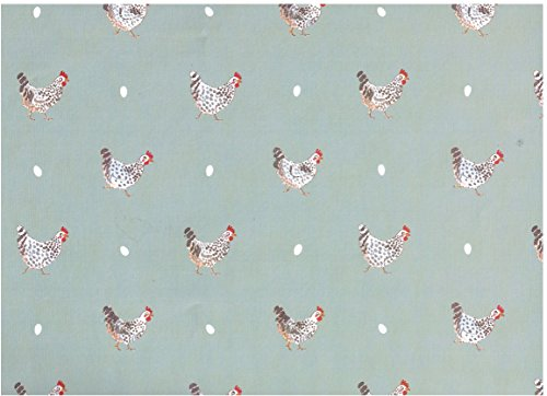 (Sophie Allport Chicken Rolled Gift Wrap 2 Sheets 19.5 in x 27.5 in)