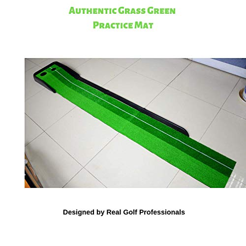 Paradise Treasures Golf Putting Green System Professional Practice Green Long Challenging Putter Indoor/Outdoor Golf Simulator Training Mat Aid Equipment Gift for Dad (1.5ftx10 auto Return Green) by Paradise Treasures (Image #2)