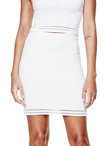 GUESS-Textured-Bandage-Miniskirt