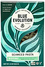 Blue Evolution Seaweed Pasta, Nourishing Superfood Rotini, Whole Food Vegan Pasta, Rich in Antioxidants 12 OZ