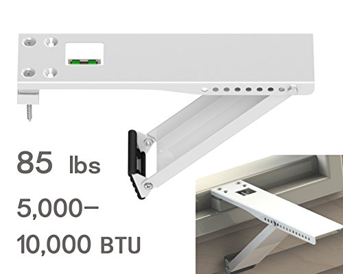 Jeacent Universal AC Window Air Conditioner Support Bracket Light Duty, Up to 85 lbs, for 5,000-10,000 BTU
