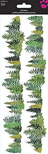 Sandylion SB4X12CL Evergreen Trees Clear Sticker 4''X12'', Multi